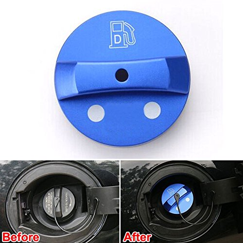 UltaPlay For Jeep Cherokee Car Fuel Gas Oil Filter Tank Tube Cap Covers Trim Automobile Styling Replacement Accessories 2014-2016 [Blue]