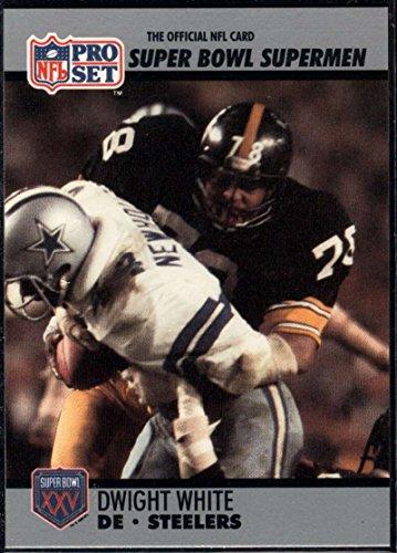 - Football NFL 1990-91 Pro Set Super Bowl 160 #80 Dwight White NM-MT Steelers