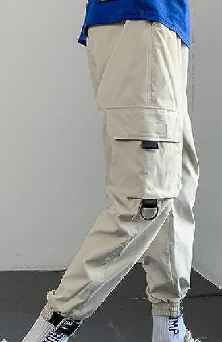 Generic Mens Elastic Waist Drawstring Jogger Harem Pants