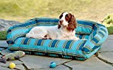 Orvis Watershed Indoor/Outdoor Bolster Dog Bed Cover / Medium, Blue Multi, Medium
