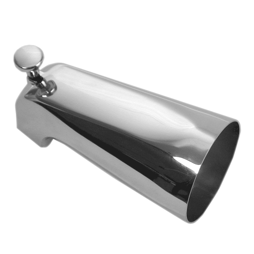 DANCO Bathroom Tub Spout with Front Pull Up Diverter, 5 Inch, Chrome, 1-Pack (88052)