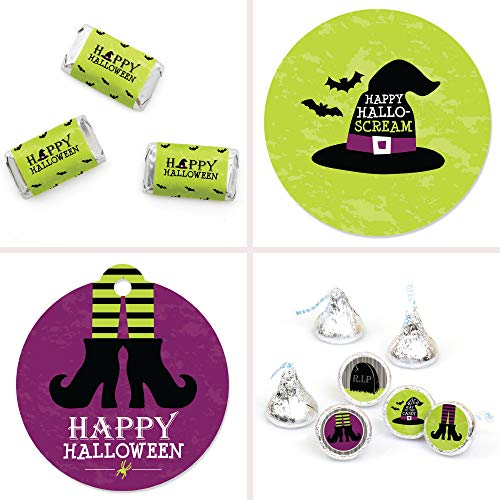 Big Dot of Happiness Happy Halloween - Witch Party Decorations Favor Kit - Party Stickers & Tags - 172 pcs