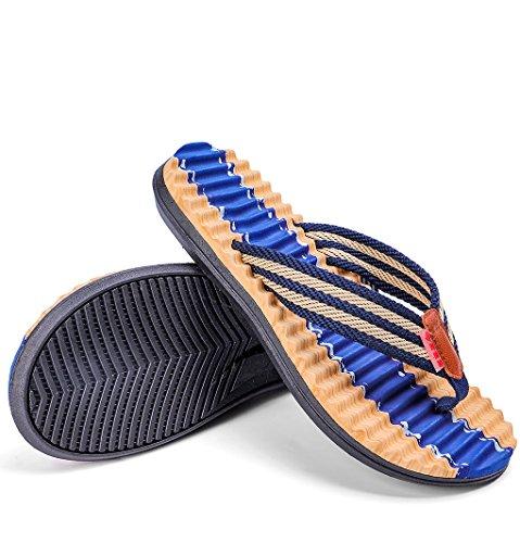 Flop Zapatos Deepblue Zapatillas Flip Hombres Sandalias Masaje LemonGirl de Playa Verano ABqFwSU