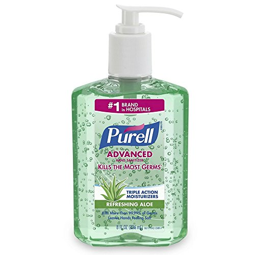 - PURELL 967412CT Advanced Instant Hand Sanitizer Gel, Fresh Scent, 8 oz Bottle (Case of 12)