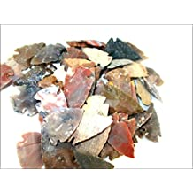 Jet Arrowheads Pack of 50 Mix Approx. 0.75 inch - 1.25 inch Agate Stone New Age Metaphysical Free Booklet Jet International Crystal Therapy Healing Spiritual Divine India