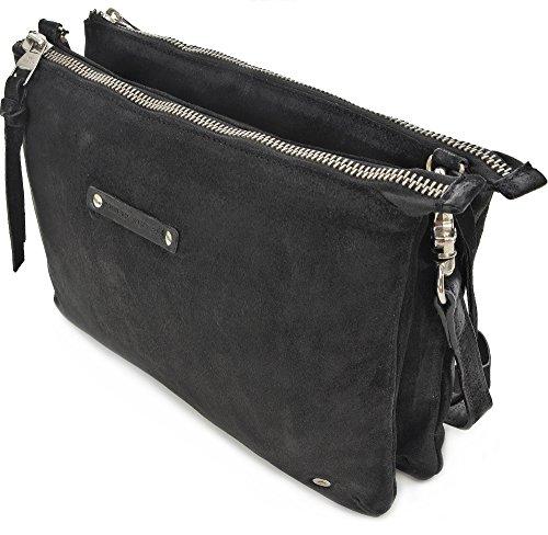TYOULIP SISTERS, Damen, Handtaschen, Umhängetaschen, Clutch, Schwarz, 31 x 21 x 5 cm (B x H x T)
