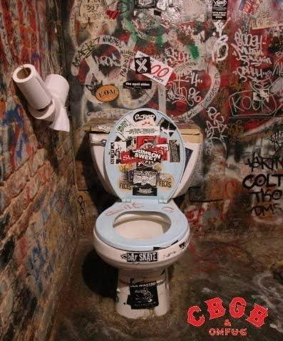 Amazon Com Cbgb Toilet Bathroom Vintage Rock Punk Music Concert Poster Print 16x20 Posters Prints