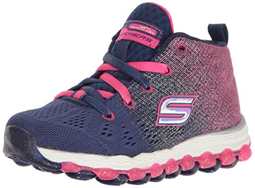 Skechers Kids Girls' Skech-Air Ultra-80014L Sneaker,Navy/Hot - Webster Mall