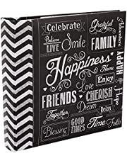 EV-246CHLK/H 200-Pocket Chalkboard Printed Happiness Theme Photo Album for 4 by 6-Inch Prints (New Version)