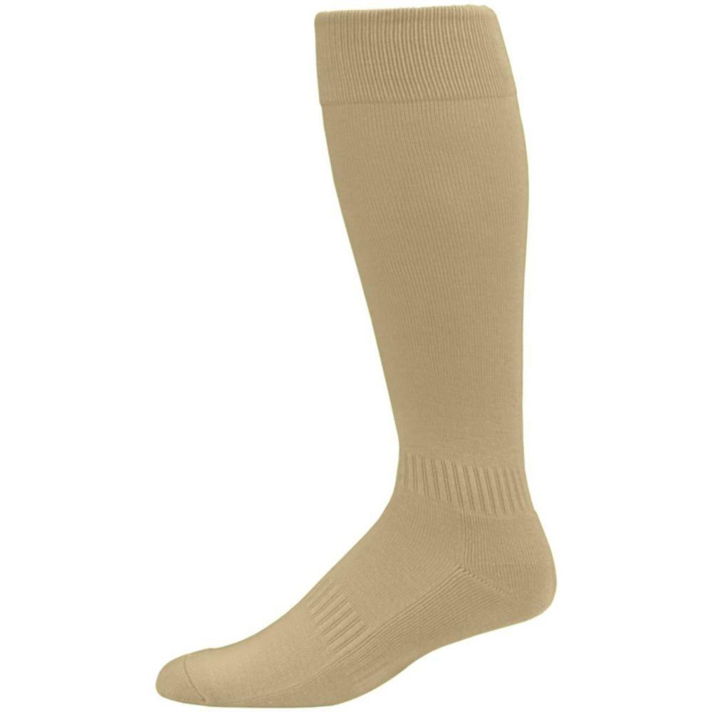 Augusta Activewear Elite Multi-Sport Sock - Youth, Vegas Gold, 7-9