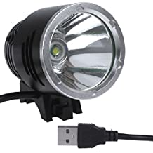 WindFire? 2000lm Cree Xml-t6 Lumens Cycling Headlight Headlamp Bicycle Lights Bike Lamp with USB Cable 3 Mode Powered by Mobile Power Bank, Computer and Any Other Digital Device with USB Port for Camping, Riding, Climbing, Hiking