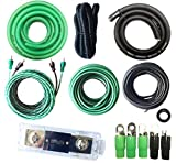 SoundBox Connected True 0 Gauge Amp Install Kit AWG Amplifier Wiring Complete Cable-SuperFlex 5500W Extra Long 20 Ft. Power Wire