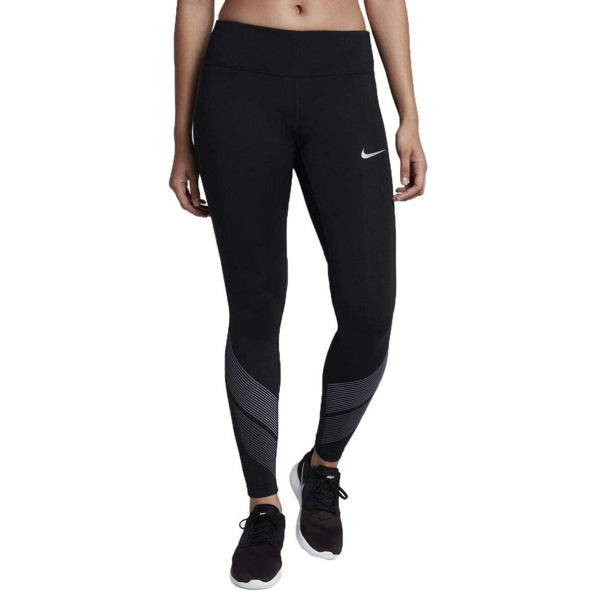 Nike Women's Power Flash Running Tights-Black-XS