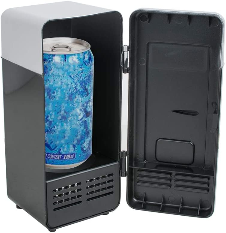 Mini USB Fridge, Portable Compact Fridge Beverage Drink Cans Cooler/Warmer Refrigerator for Cars, Homes, Offices, and Dorms