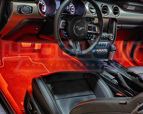 ledglow 4pc million color smd led car interior underdash lighting kit 36 smd leds music mode. Black Bedroom Furniture Sets. Home Design Ideas