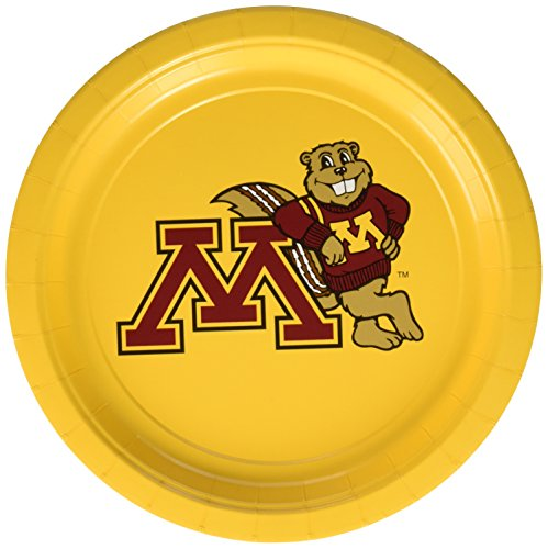 "Mayflower Distributing Company 55139 (10 Count) University Of Minnesota Plate, 9"", Multicolor"