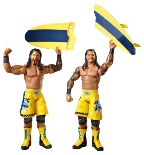 WWE Series #28 Jimmy Uso and Jey Uso Figure with Surfboard (2-Pack) by Mattel