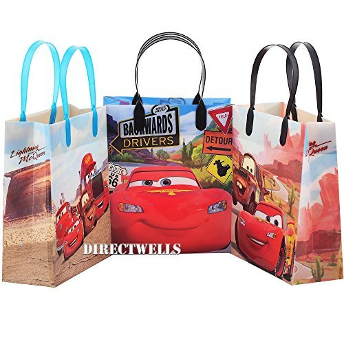 Disney Car Authentic Licensed 12 Party Favor Reusable Goodie Medium Gift Bags - Cars Bags Gift