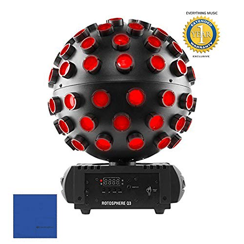Chauvet DJ Rotosphere Q3 RGBW LED Mirror Ball Simulator Effect with 1 Year Free Extended Warranty]()