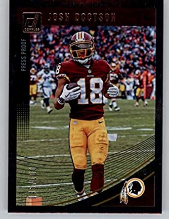 b9062f56b90 2018 Donruss Press Proof Silver  293 Josh Doctson 45 100 Washington  Redskins NFL Football