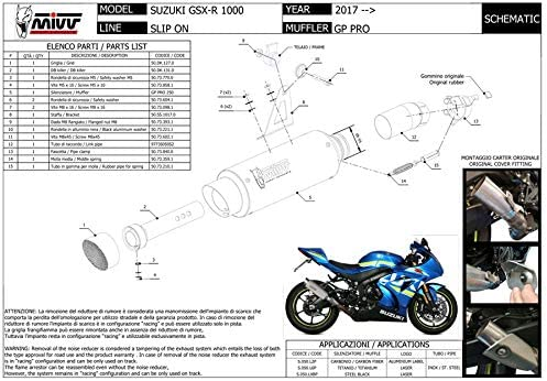 Tubo Escape GSX-R 1000 2017 2018 Gp Pro MIVV Carbono