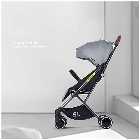 MAOSF Sillas de paseo Cochecitos de bebé Los carros ligeros para recién nacidos se sientan tumbados