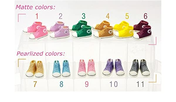 fce8684df8 Amazon.com : 5pairs/lot Mixed Colors 3.5cm Doll Sneaker Shoes 1/6 ...