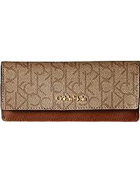 Womens Monogram Flap Wallet