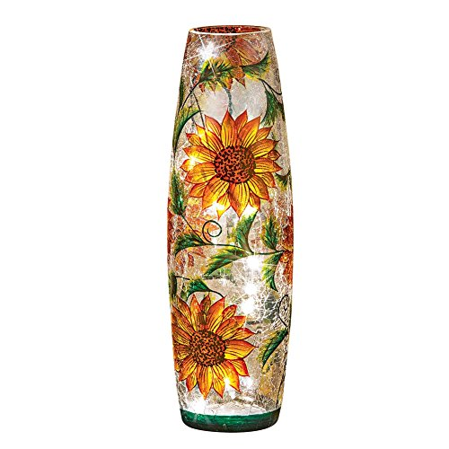 Collections Etc Sunflowers And Leaves Table Lamp ()