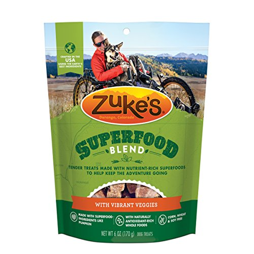 Zuke's SuperFood Blend With Vibrant Veggies Dog Treats - 6 oz. Pouch