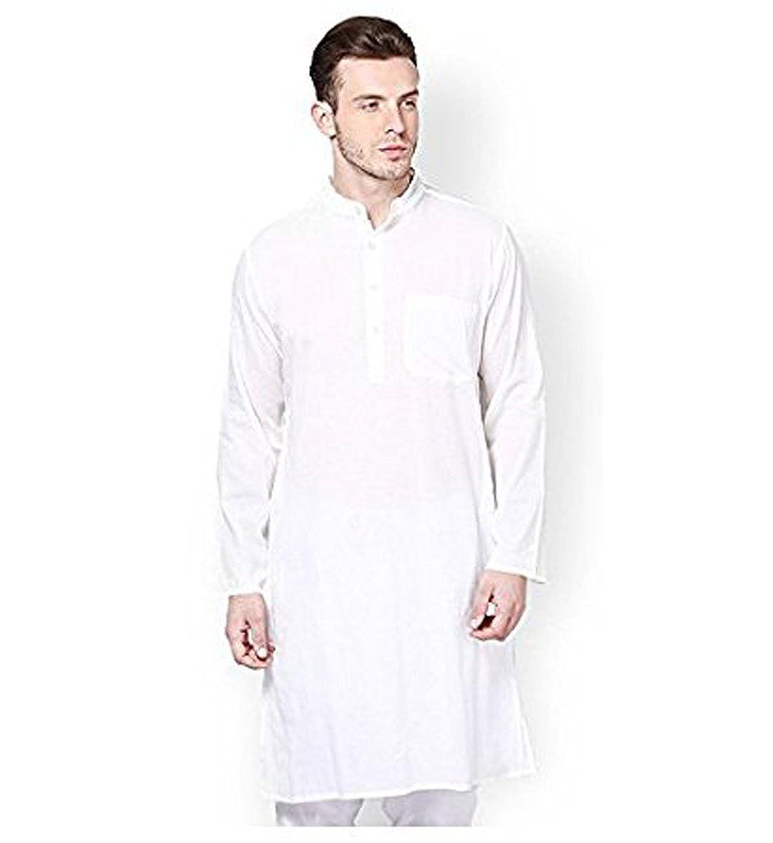 Royal White 100% Madras Cotton Kurta Pyjama Set GOLD-STAR-44X