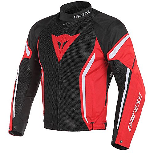 Dainese Men'S Air Crono2 Tex Jacket Black/Red/White 58