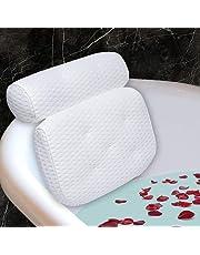 Lactraum Premium badkussen, bad- en spa-kussen met 4D-AirMesh-textiel en zuignappen, hoofdsteun en rugleuning, comfortabel nekkussen voor thuis, spa, whirlpools