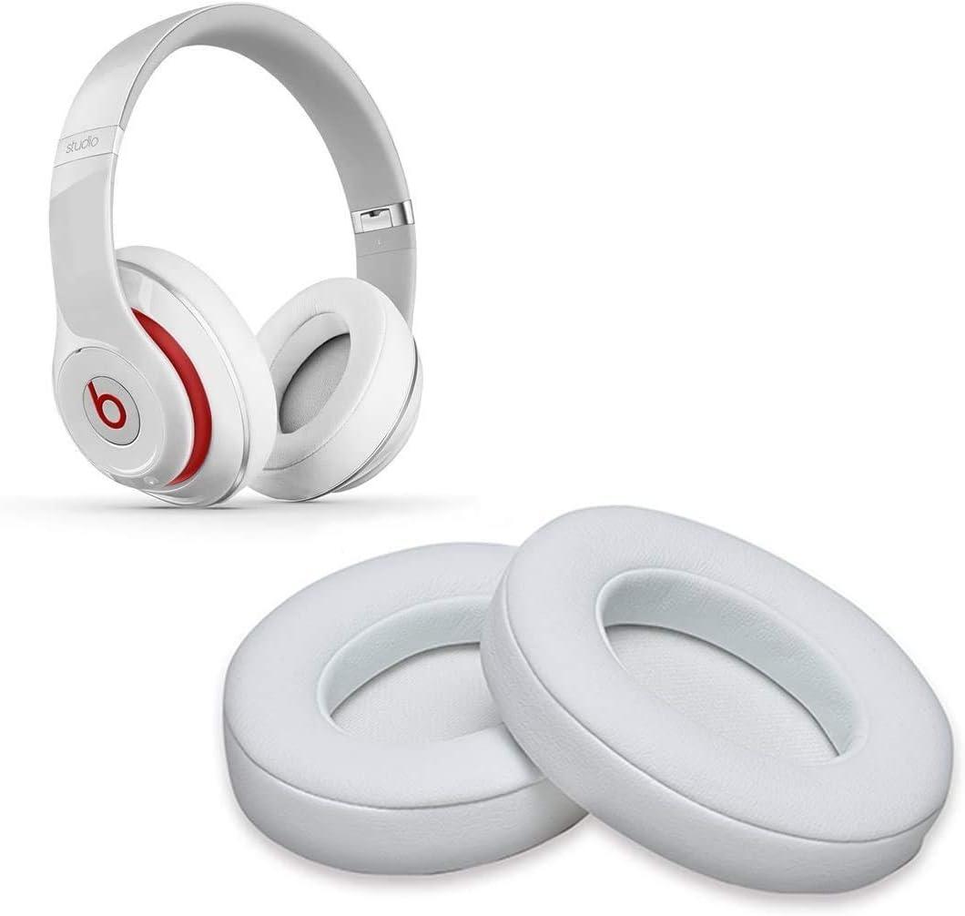 Almohadillas de Repuesto de Color Blanco, 2 Almohadillas de Espuma para Auriculares Beats Studio 2.0 Wired/Wireless B0500 B0501 Auriculares & Beats Studio 3.0