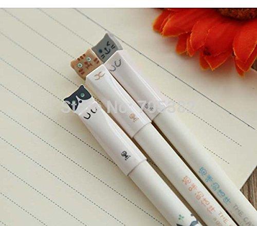 Gel Pen. Kawaii Cute Cat Design Gel Pen ,Office Supply by Office & School Supplies YingYing (Image #2)