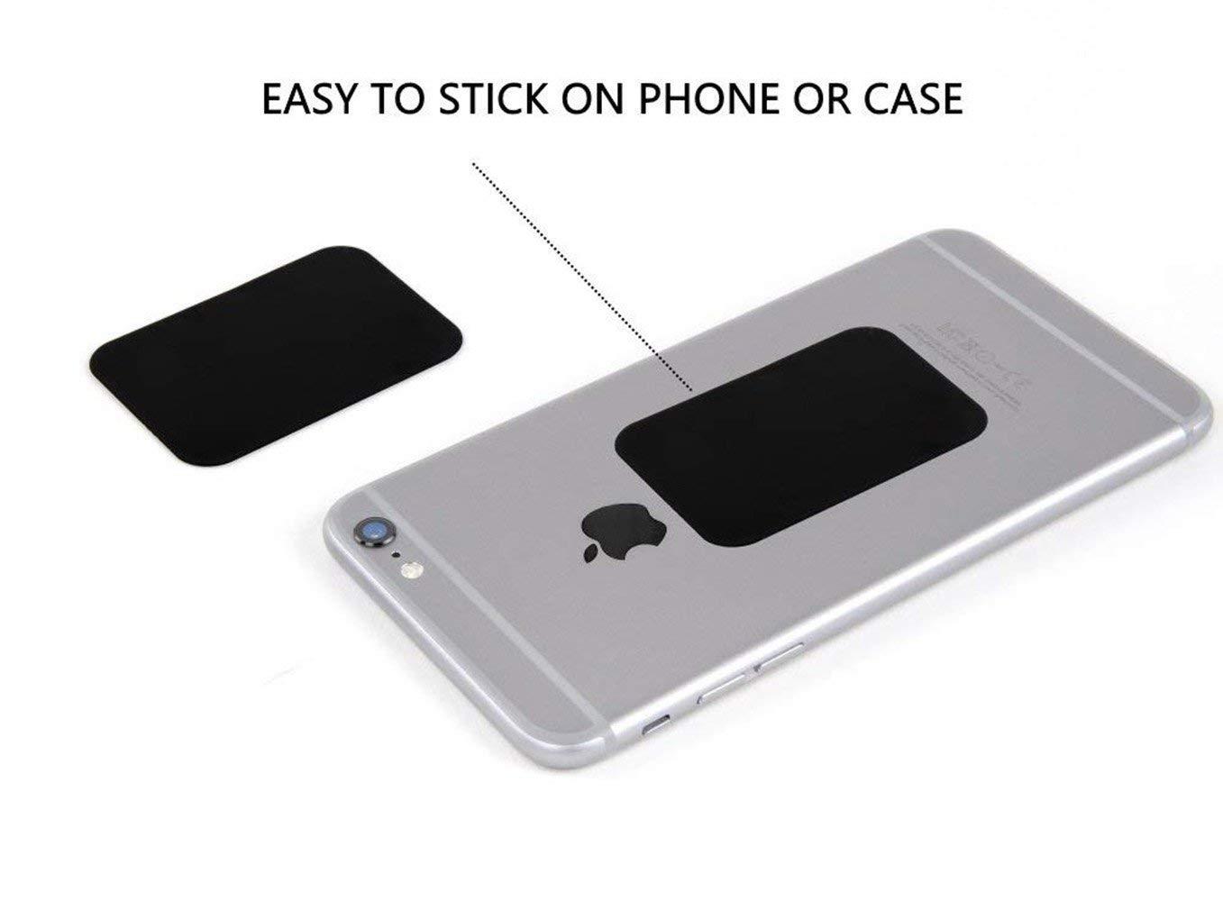 Metal Plate for Magnetic Mount 8 Pack Mount Metal Plate Best Tek Phone Magnet Sticker