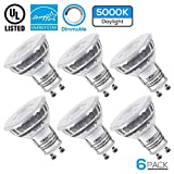 TORCHSTAR Dimmable LED MR16 GU10 Spot Light Bulb, 5.3W (50W Equivalent), 5000K Daylight, 380 Lumens, UL and Energy Star Certified, 3 Years Warranty, Pack of 6
