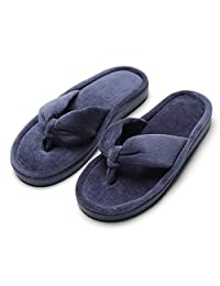 INFLATION Women Home Spa Slippers Flip Flops Non-Slip Memory Foma Soft Slippers