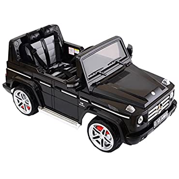 Costzon Black Mercedes Benz G55 12V Electric Kids Ride On Electric Ride On Toy Truck w/ Parent Remote Control