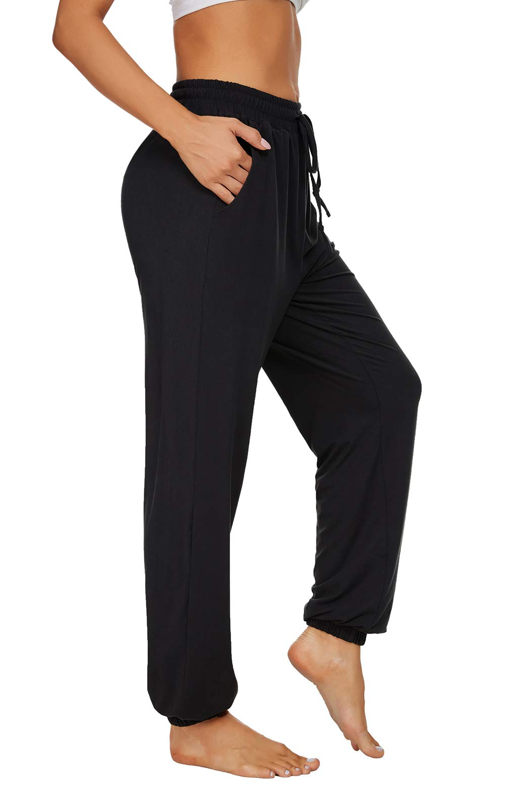 TARSE Womens Yoga Joggers Loose Sweatpants Workout Comfy Drawstring Lounge Pants with