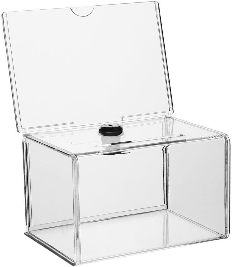 Urna para votaciones, donaciones, inserción para cartel cerrable/con cerradura