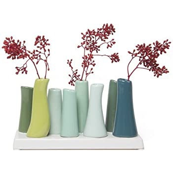 Amazon Chive Pooley 2 Unique Rectangle Ceramic Flower Vase