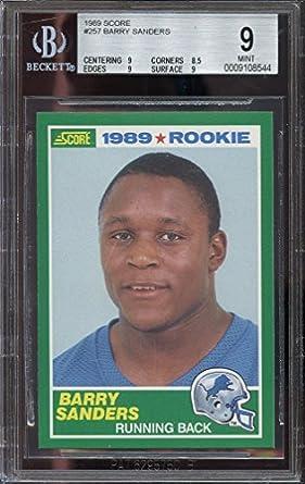 Amazoncom 1989 Score 257 Barry Sanders Detroit Lions