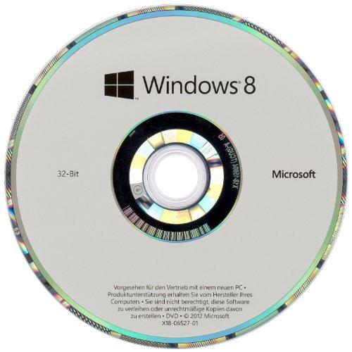 Windows 8 OEM 32 Bit Vollversion (Frustfreie Verpackung)