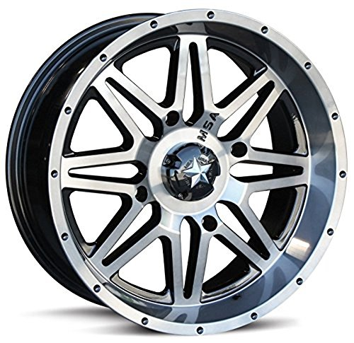 MotoSport Alloys 14-19 Polaris RANRZR1000XE M26 Vibe Wheel (Front/Rear / 14x7 +0mm 4/156) (Dark Tint)