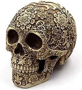 Table Human Skull Halloween Decoration Flower Skull Decor