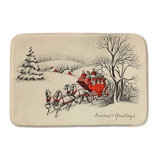 - Wffo Indoor Home Carpets, Merry Christmas Welcome Doormats Decor 40x60CM (I)
