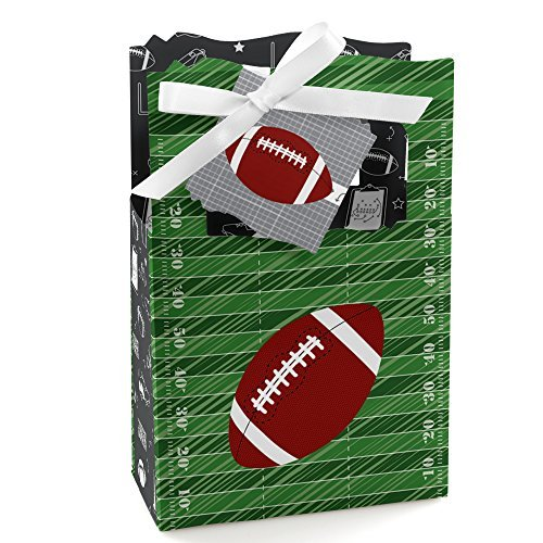 End Zone - Football - Baby Shower or Birthday Party Favor Boxes - Set of 12 ()