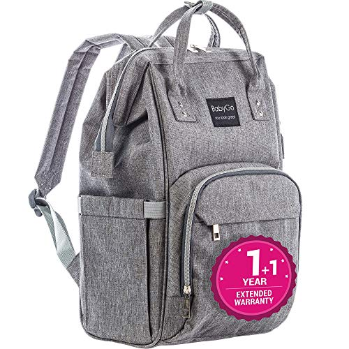 Diaper Bag Backpack – Exclusive 2019 – Large Multi-Function Waterproof Baby Travel Bags for Mom, Dad, Men, Women – Durable Maternity Nappy Travel Organizer Girls Boys – Large, Durable and Stylish