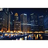 Chicago Nights Travel Photo Poster